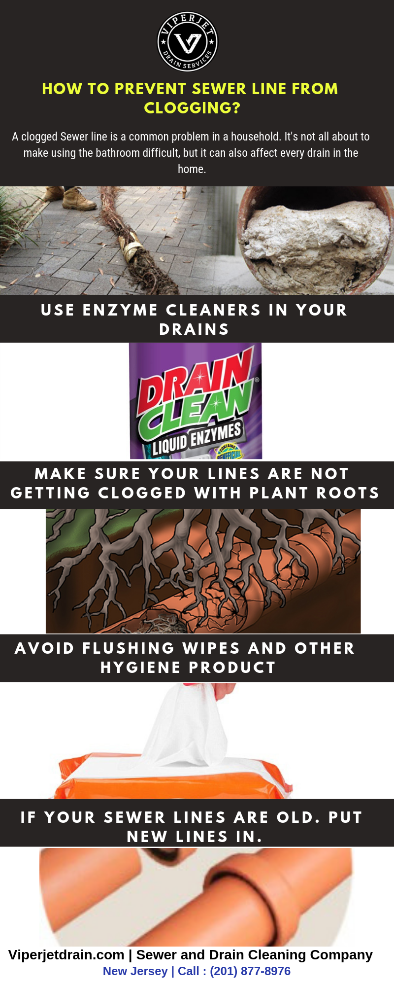 How to prevent sewer line from clogging?