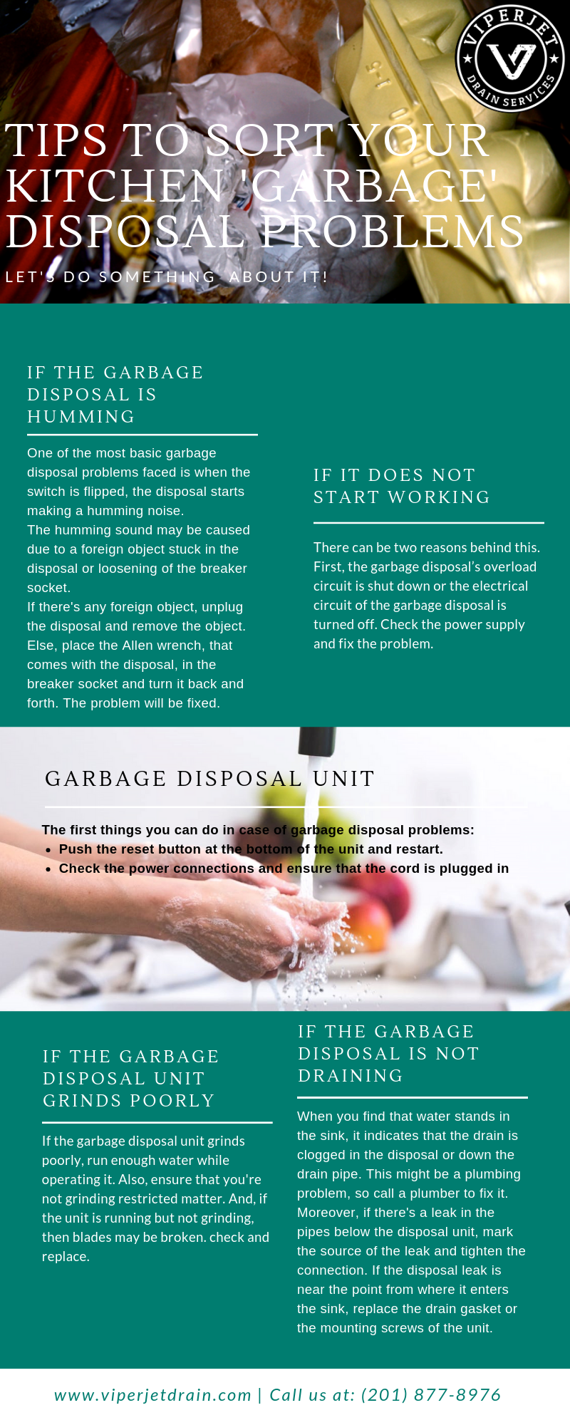 How to Fix Your Kitchen 'Garbage' Disposal Problems?